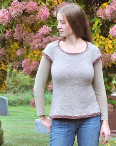 Becky Herrick's pattern Stammel knit using Harrisville Designs' Shetland yarn.