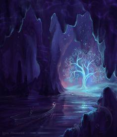 underground cavern tree #imagine