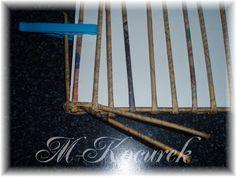 PLETENÍ Z PAPÍRU: 8) Návody na oplétaní a pletení víka