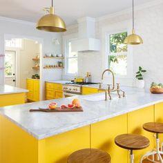 90 Creative Colorful Apartment Decor Ideas And Remodel for Summer Project 43 – Home Design Home Design Diy, Küchen Design, Interior Design Kitchen, Design Trends, Interior Decorating, Decorating Ideas, Design Ideas, Bright Kitchens, Home Kitchens