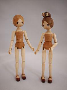 Dress-Up Doll - Hiroki Asaka Wooden Doll Work