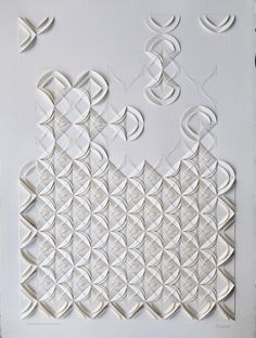 artist liz sofield & # Twisted Rhythm 2 & # hand-folded and hand-sewn on aqua . Artist Liz Sofield & # Twisted Rhythm 2 & # hand-folded and hand-sewn on watercolor paper. Paper Origami Flowers, Origami Paper Art, Diy Paper, Paper Crafts, Origami Boxes, Paper Folding Art, Fabric Origami, Paper Embroidery, Embroidery Patterns