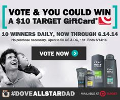 Please Vote! 10 Winners Daily Receive a $10 Target Gift Card