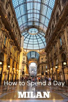 How to Spend a Day in Milan Heading to the fashion capital of the world? Must see highlights and things to do in the lovely city of Milan, northern Italy. European Destination, European Travel, Italy Destinations, Holiday Destinations, Milan Travel, Italy Travel Tips, Travel Europe, Travel Guide, Como Italy