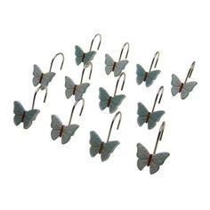 Home Shower Curtain Hooks Butterfly Shower Curtain Vinyl