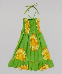 Loving this Lime & Yellow Floral Dress - Toddler & Girls on #zulily! #zulilyfinds