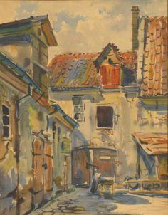 Jānis Brekte (1920-1985) Vecrīgas pagalms, 1960