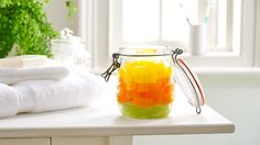 Make your shower gel go further and cool down with these fruity homemade shower jellies.