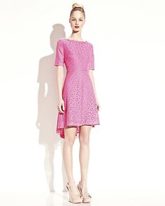 Betsey Johnson Lace Short Sleeve Dress