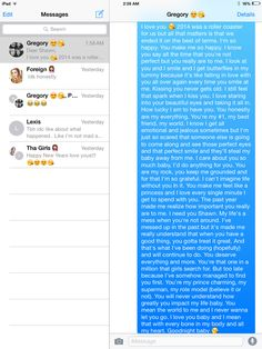 Long goodnight text. Melts my heart.
