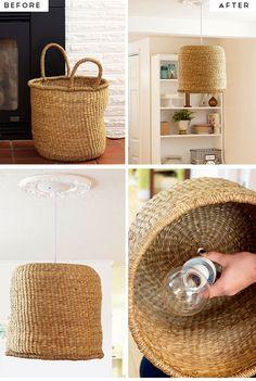 Simple Diy Kitchen Decoration Ideas 9 Diy Basket Pendant Lamp