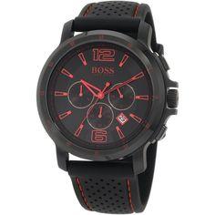 Hugo Boss Men's 1512597 Black Chronograph Black Silicone Watch