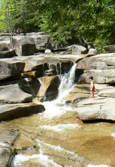Diana's Baths, North Conway, NH. Gorgeous waterfalls you can swim in in the White Mountains.
