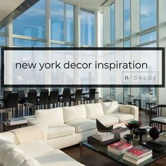 New York is known as a city of style and sophistication. It is considered a leading trend setter in many markets, especially interior design. Need to work on a new look with a New York twist! Visit me at www.ndecor.me and follow me for daily inspiration in Pinterest. New York Decor, Daily Inspiration, New Look, Interior Design, City, Furniture, Home Decor, Style, Nest Design