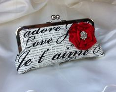 THE JE T'AIME Bridal Clutch Wristlet by franklymydearvintage, $45.00