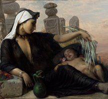 Elisabeth Jerichau Baumann, An Egyptian Fellah Woman with her Baby, 1872.