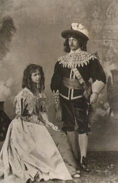 Marie and Ferdinand of Romania, in costume