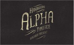 25 Attractive and Versatile Handmade Fonts for 2016