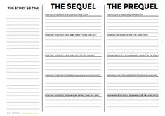 Writing prequels & writing sequels