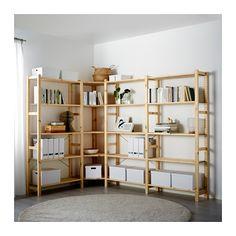 IKEA - IVAR, 4 sektioner/hörn, Obehandlat massivt trä är ett slitstarkt…