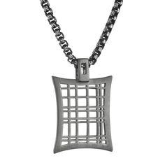 "Quattro Bail Pendant... Black Rhodium plated w/ 24"" Chain"