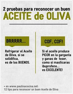 12 tips para reconocer un buen aceite de oliva... ¡que no te vendan gato por liebre!