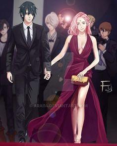 I can see Orlando Bloom and Miranda Kerr.  # #sasusaku - ©arai14   Deviantart. ♡