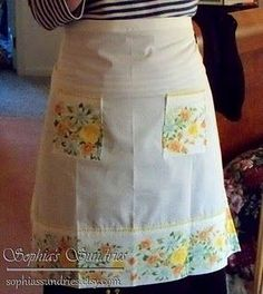 Pillowcase half-aprons tutorial - made from vintage pillowcases