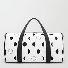 Moon phases Duffle Bag by laurafrere Moon Phases, Graphic, Illustration, Patterns, Stuff To Buy, Bags, Pattern, Drawing Drawing, Block Prints