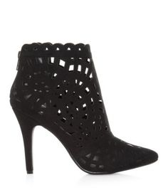 Black cut out ankle boots. I have bought them and they look amazing. They are surprisingly comfy and easy to walk in as well. Looking great with boyfriend jeans an a blazer or with opaque black tights and a short skirt. Shoe Boots, Ankle Boots, Shoe Gallery, Black Tights, Pumps, Heels, Boyfriend Jeans, Teen Fashion, Me Too Shoes
