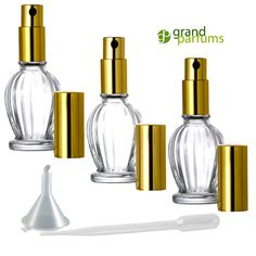 Glass Perfume Atomizer Bottles EMPTY REFILLABLE by GrandParfums