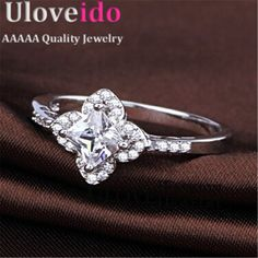 Find More Rings Information about Flower Ring For Women Engagement Anel Party Girls Fashion Jewelery CZ Diamond Rings 2016 Rhinestone Wedding Accessories WX034,High Quality jewelry prop,China jewelry shapes Suppliers, Cheap jewelry moissanite from ULove Fashion Jewelry Store on Aliexpress.com