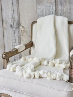 Our old white mohair throw is soft, tactile and utterly gorgeous...