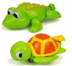 #Crocodile & #turtle bath time wind up #swimming toys,  View more on the LINK: 	http://www.zeppy.io/product/gb/2/381574889725/