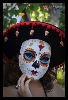 La Muerte  The book of Life Day of the Dead Mask & by HikariDesign