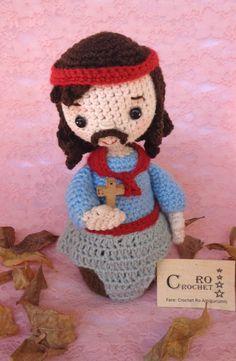 Figura religiosa venerada en Argentina Gaucho, Crochet Hats, Teddy Bear, Toys, Christmas, Animals, Amigurumi Doll, Saints, Baby Dolls