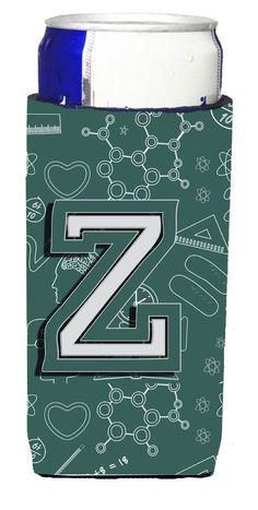 Letter Z Back to School Initial Ultra Beverage Insulators for slim cans CJ2010-ZMUK