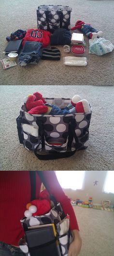 Organizing utility tote hard at work! Before, after and in tow!