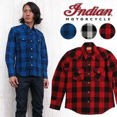 インディアンモーターサイクルIndianMotorcycleシャツ長袖ウエスタンシャツチェックim27371