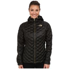 The North Face Womens ThermoBall? Hoodiec TNF Black/Curry Gold - Coats & Outerwear