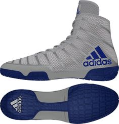 c57071df0df0 Adidas AdiZero Varner 2 Men s Wrestling or Boxing Shoes Gray Blue Adult