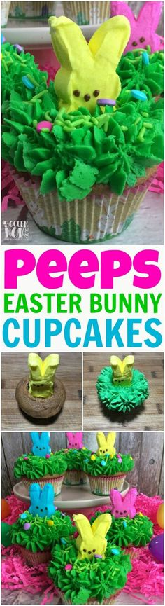 Absolutely adorable Peeps Bunny Cupcakes are the perfect Easter party dessert! Rich carrot cake & an easy recipe! Easter Bunny Cupcakes, Easter Peeps, Easter Art, Easter Stuff, Easter Food, Bunny Cakes, Easter Cookies, Easter Decor, Easter Deserts