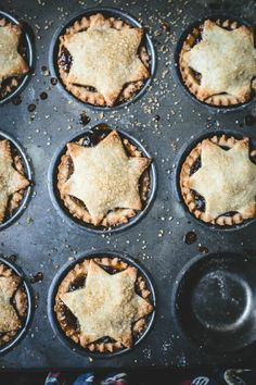 Pâte Frolle Mince Pies - Top with Cinnamon