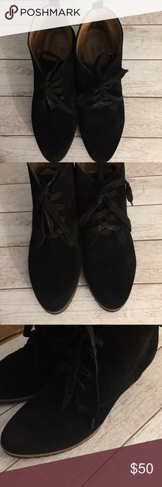 ❤ SUSINA Wedge Suede Ankle Boots❤ EUC, the most comfortable and cute bootie. Sz 6.5. Smoke and pet free. Original box. #susina #wedgebootie #suedebootie #comfortableshoe #comfyshoe #comfybootie #susina Susina Shoes Ankle Boots & Booties