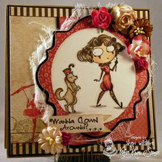 Beatrix and Bijou from Kraftin' Kimmie Stamps  Design by Sheri Willshire