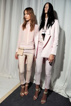 Vilma Putriute and Valeriya Melnik Backstage at Givenchy Spring 2012-RTW