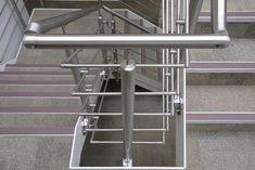 Stair Railing Design, Stair Handrail, Railings, Steel Stairs, Steel Gate, Stainless Steel Stair Railing, Handrail Fittings, Laminated Glass, Modern Staircase