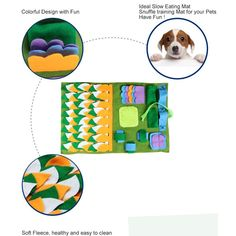 IFOYO Dog Feeding Mat Dog Snuffle Mat Small Dog Training Pad Pet Nose Work Blanket Non Slip Pet Activity Mat for Foraging Skill Stress Release S Green -- Be sure to check out this awesome product. (This is an affiliate link) Dog Training Pads, Training Your Dog, Large Dogs, Small Dogs, Activity Mat, Release Stress, Cat Feeding, Pet Supplies, Diy Dog