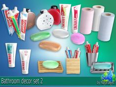 The Sims Bathroom decor set Sims 4 Mods, Sims 4 Game Mods, Sims 4 Cc Skin, Sims Cc, Sims 4 Kitchen, Sims 4 Bedroom, Bedroom Sets, Sims 4 Blog, Sims 4 Clutter