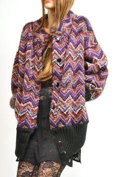 vintage Missoni-esque coat